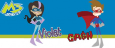 M3 Money Club Violet and Cash Cartoon Characters