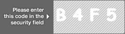 captcha code for visual authentication  letter B number 4 letter F number 5